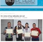 """Artículo sobre curso a """"periodistas independientes"""" cubanos vinculados a sitios pagados por EE.UU. publicada el 11 de agosto de 2014 en la web del Instituto Política para la Libertad de Perú."""