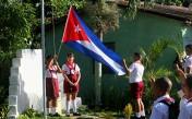 Inicio del curso escolar en Cuba. 1ro de septiembre de 2014. Escuela Mártires de La Coubre, poblado Ganuza, Municipio San José de las Lajas, Provincia Mayabeque.