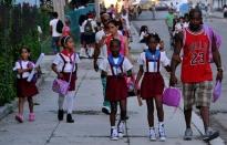 Inicio del curso escolar en Cuba. 1ro de septiembre de 2014.