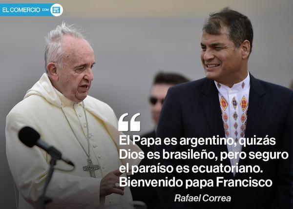 Papa Francisco llega a Ecuador