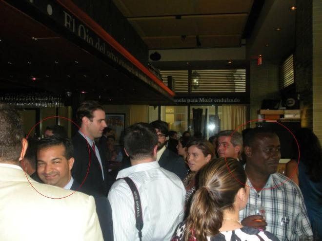 Congresista anticubano Carlos Curbelo y Antunez durante cena ofrecida a este último por el senador Marco Rubio. Agosto 2015