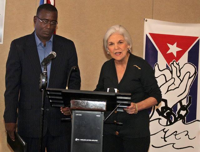 Antúnez a su paso por Miami no dudó en visitar a la anticubana Silvia Iriondo, amiga íntima de Luis Posada Carriles.
