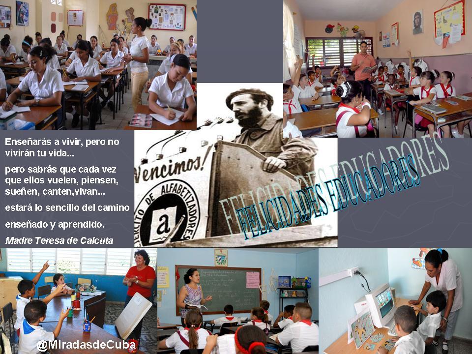 La felicidad de un educador cubano | chichaalacubana